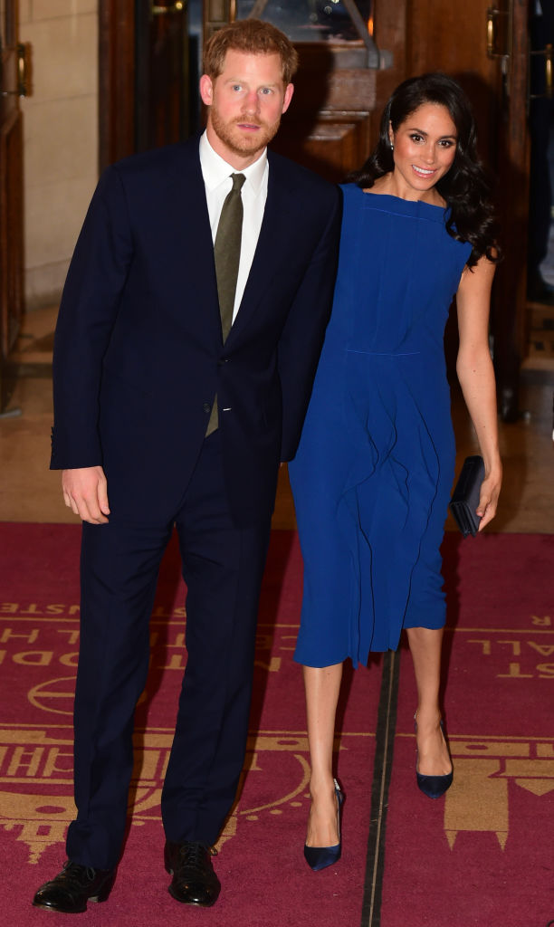 Prince Harry and Meghan at the '100 days of peace' concert to commemorate the centenary of the end of the First World War at Central Hall Westminster on September 06, 2018 in London (Getty Images)