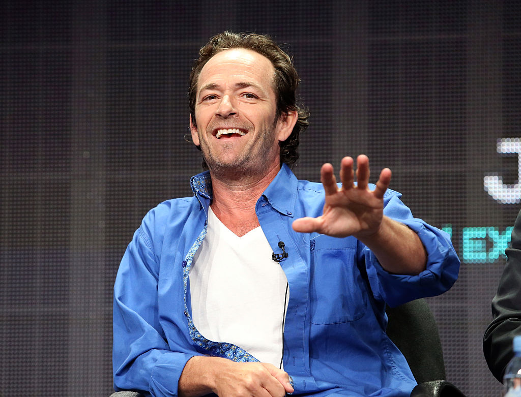 Executive producer/actor Luke Perry speaks onstage during the 'Welcome Home' panel discussion at the UP Entertainment portion of the 2015 Summer TCA Tour at The Beverly Hilton Hotel on July 30, 2015 in Beverly Hills, California. (Photo by Frederick M. Brown/Getty Images)