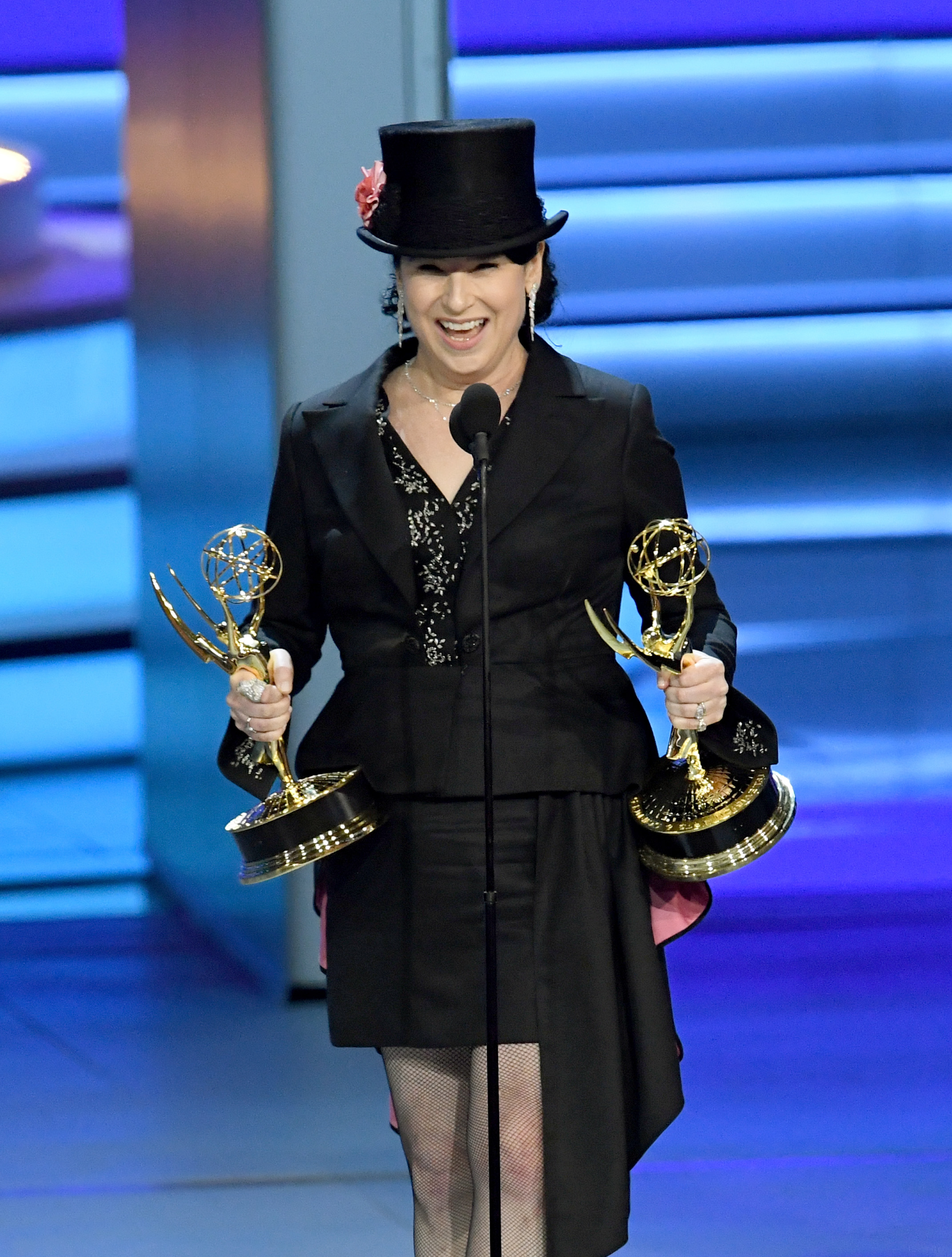 Amy Sherman-Palladino accepts the Outstanding Directing for a Comedy Series award for 'The Marvelous Mrs. Maisel' onstage during the 70th Emmy Awards at Microsoft Theater on September 17, 2018 in Los Angeles, California.