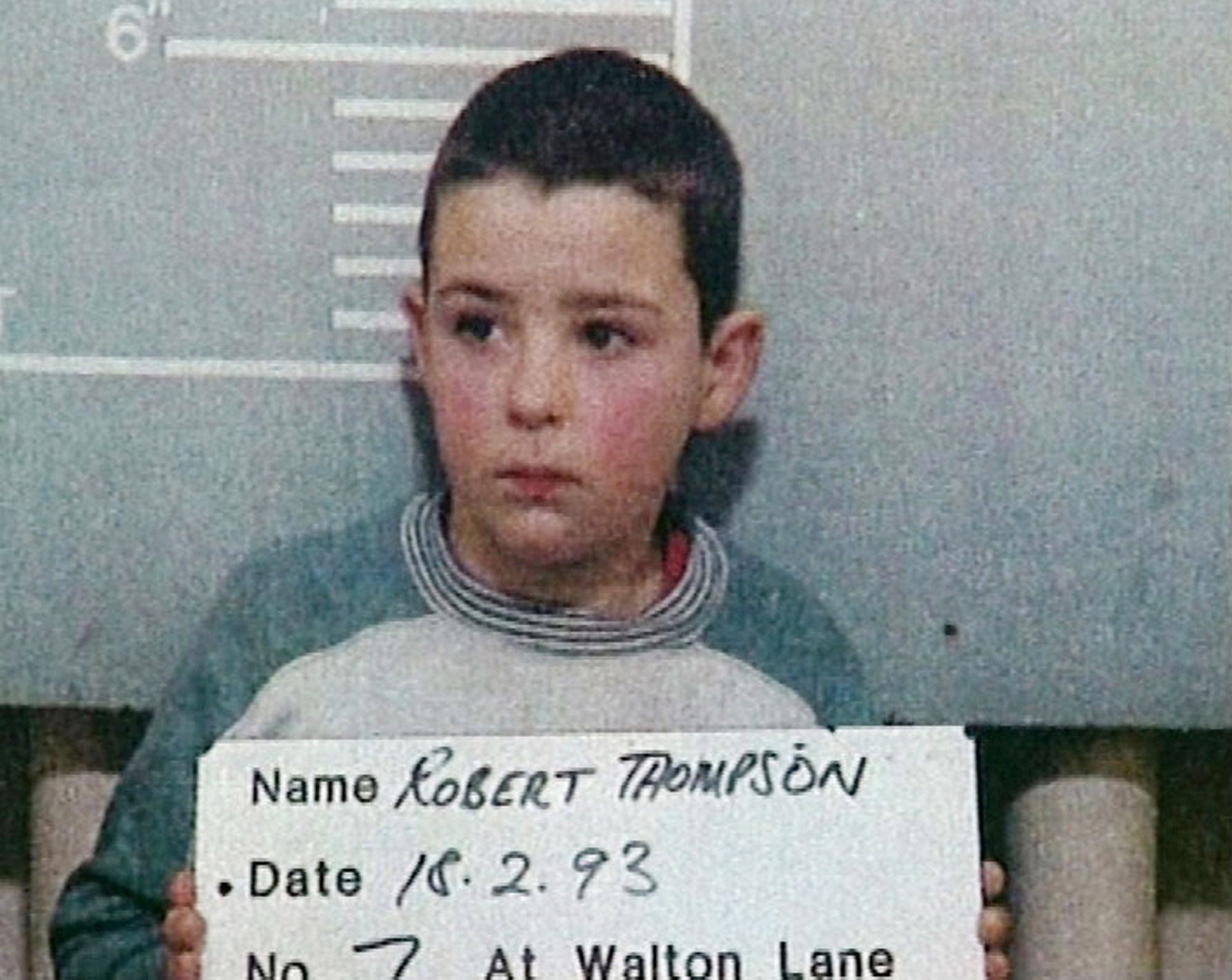 A mug shot of 10-year-old Robert Thompson, who along with Jon Venables, abducted, tortured and killed 2-year-old James Buglar in 1993. (Image: Getty Images)