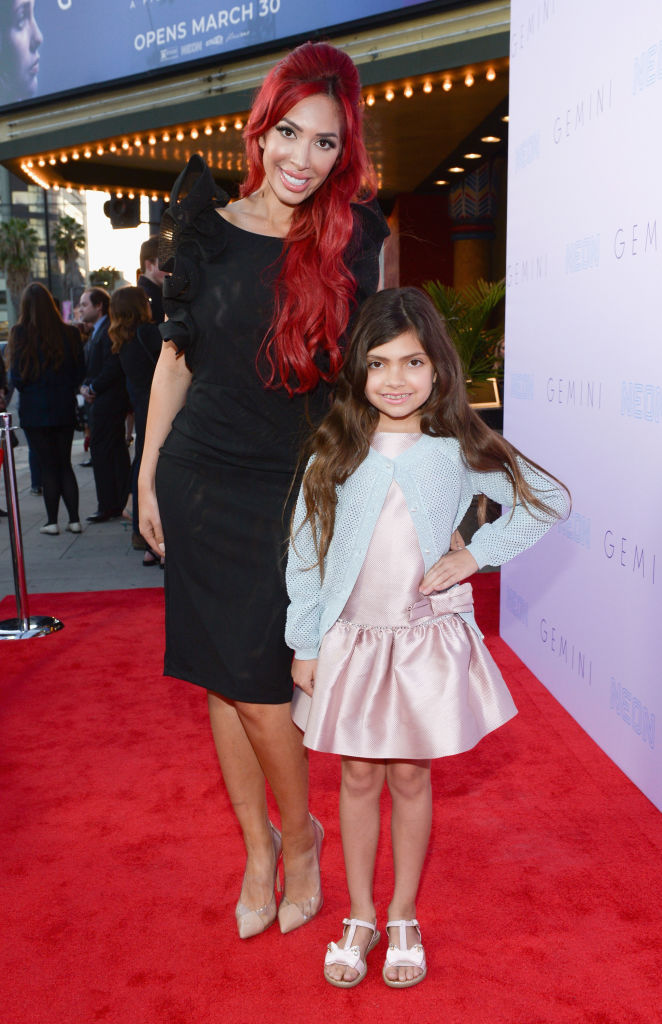 TV personality Farrah Abraham and daughter Sophia Abraham attend the Los Angeles premiere of Neon's 'Gemini' at the Vista Theatre on March 15, 2018, in Los Angeles, California. (Getty Images)