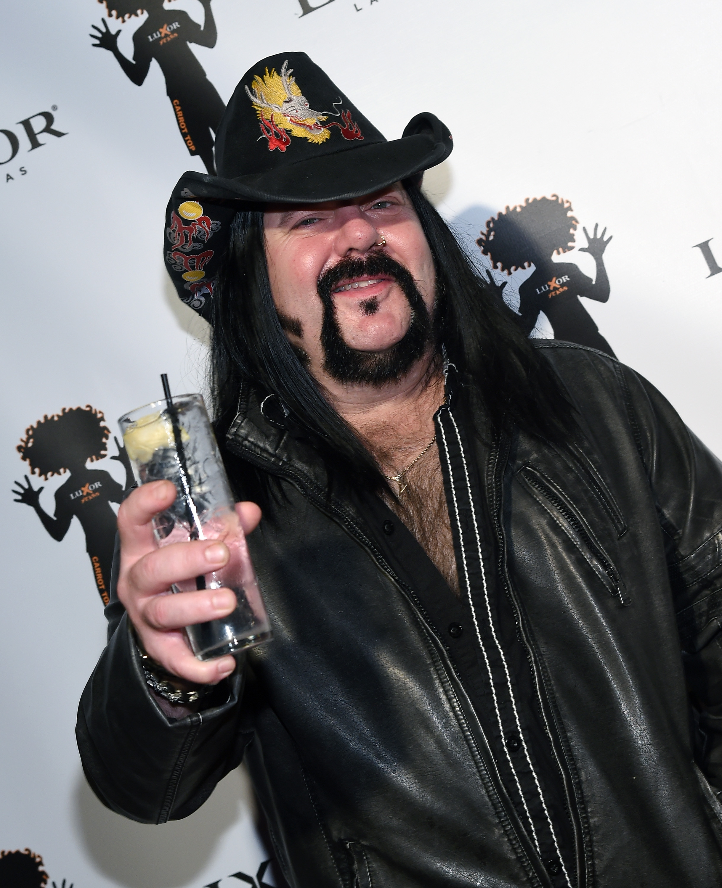 Recording artist Vinnie Paul attends the 10th anniversary celebration of Carrot Top's residency at the Luxor Hotel and Casino on December 6, 2015 in Las Vegas, Nevada.