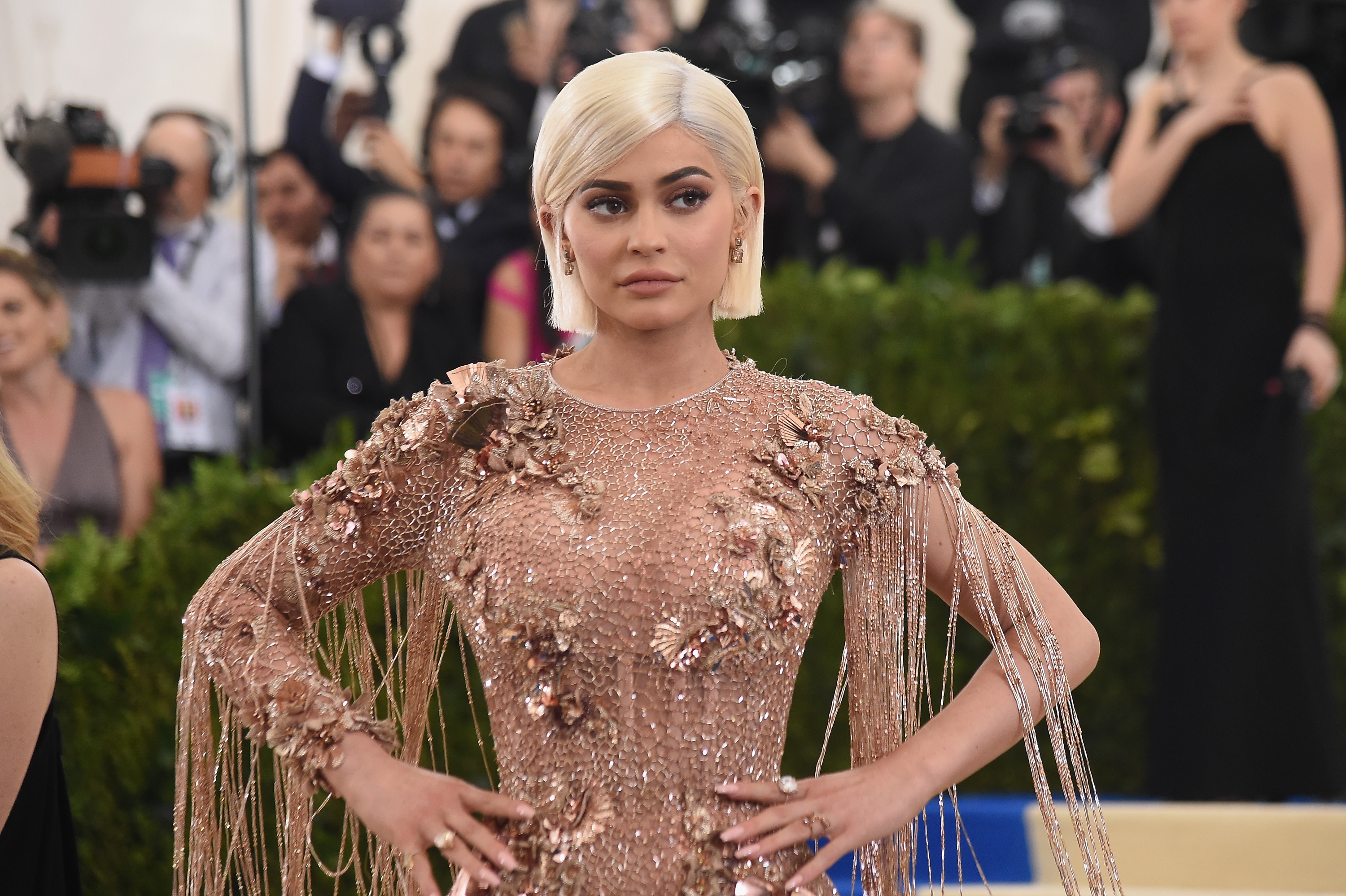 Kylie Jenner attends the 'Rei Kawakubo/Comme des Garcons: Art Of The In-Between' Costume Institute Gala at Metropolitan Museum of Art on May 1, 2017 in New York City.