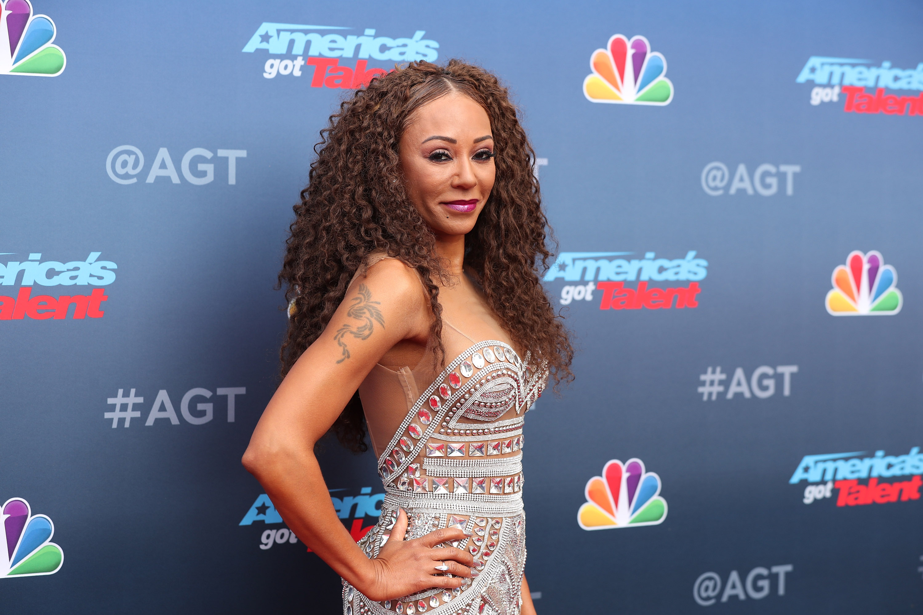 Mel B attends the red carpet kickoff for 'America's Got Talent' season 13 at Pasadena Civic Auditorium on March 12, 2018, in Pasadena, California. (Getty Images)