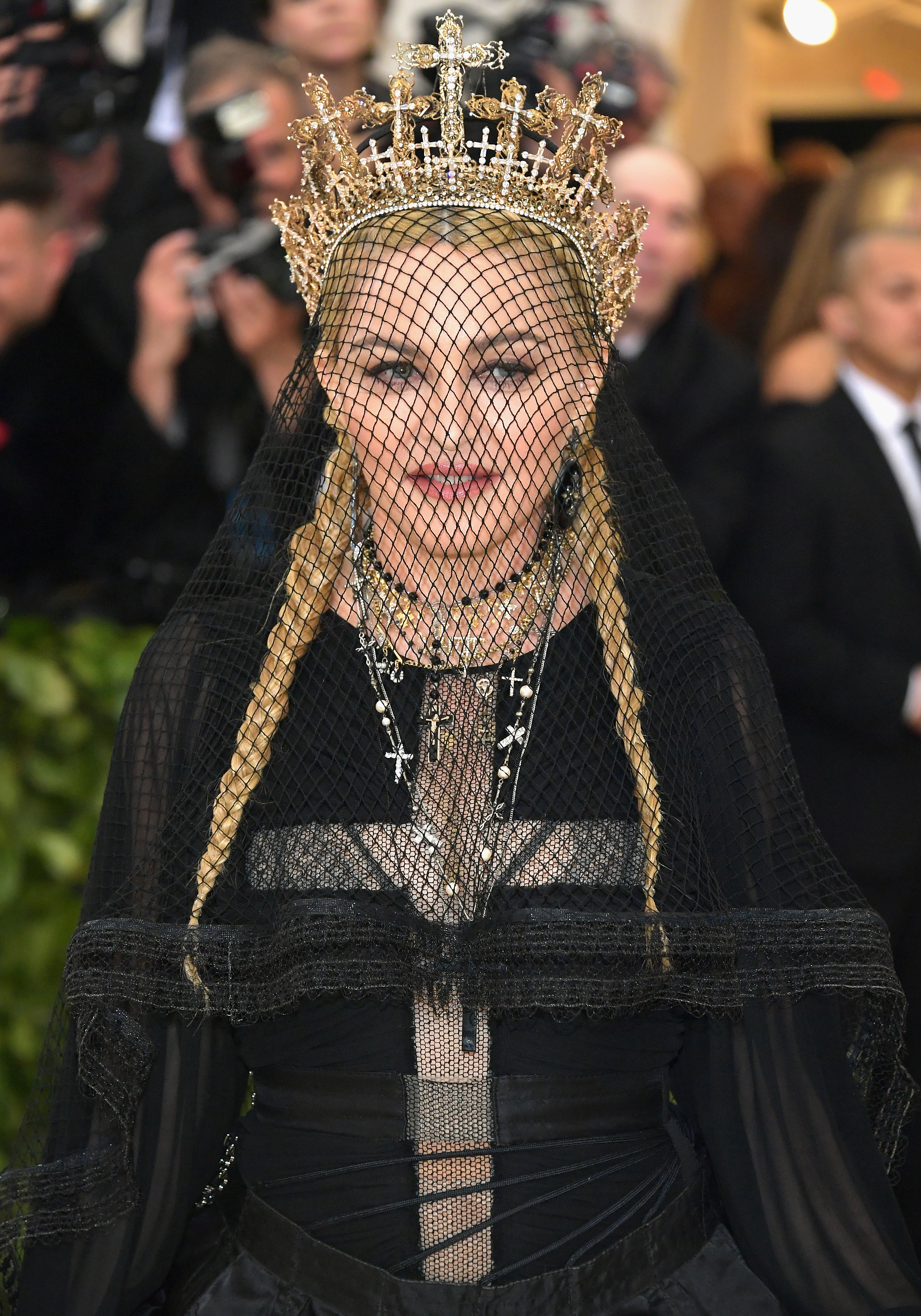 Madonna attends the Heavenly Bodies: Fashion & The Catholic Imagination Costume Institute Gala at The Metropolitan Museum of Art on May 7, 2018 in New York City. (Photo by Neilson Barnard/Getty Images)