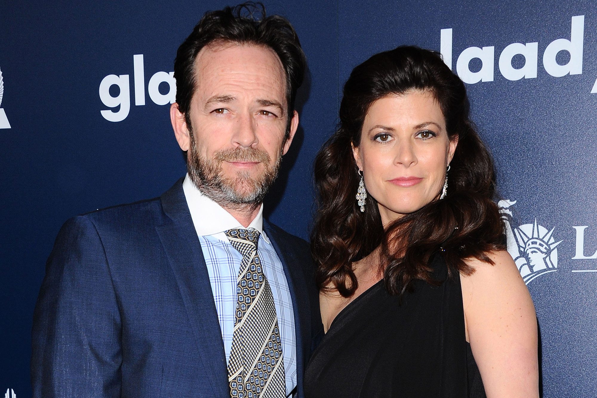 Luke Perry and Wendy Madison Bauer (GLAAD facebook)
