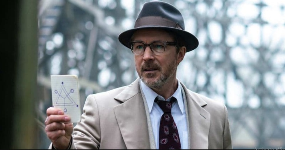 Aidan Gillen as Dr Hynek in Project Blue book. Source: Twitter/History