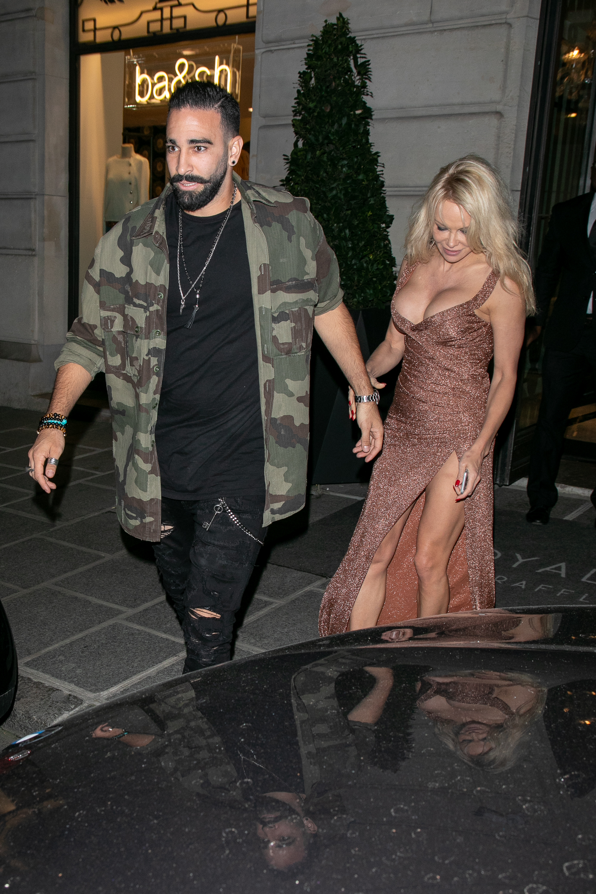 Adil Rami and Pamela Anderson (Getty Images)