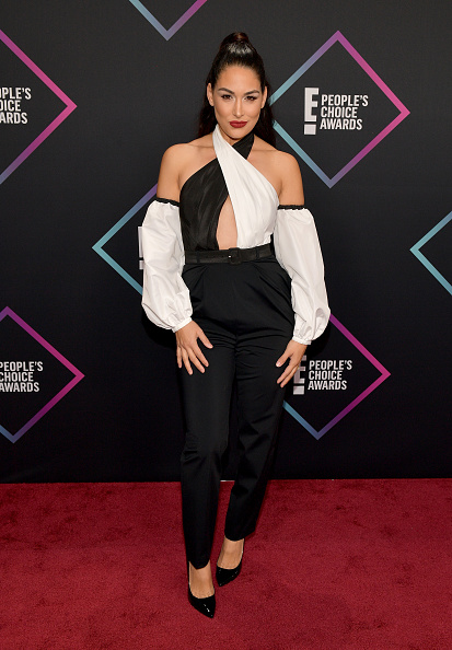 Experimenting is one thing, cosplaying is another. Brie Bella's look was a nostalgic reminder to not be Aladdin next year for Comic Con! (Photo by Matt Winkelmeyer/Getty Images)