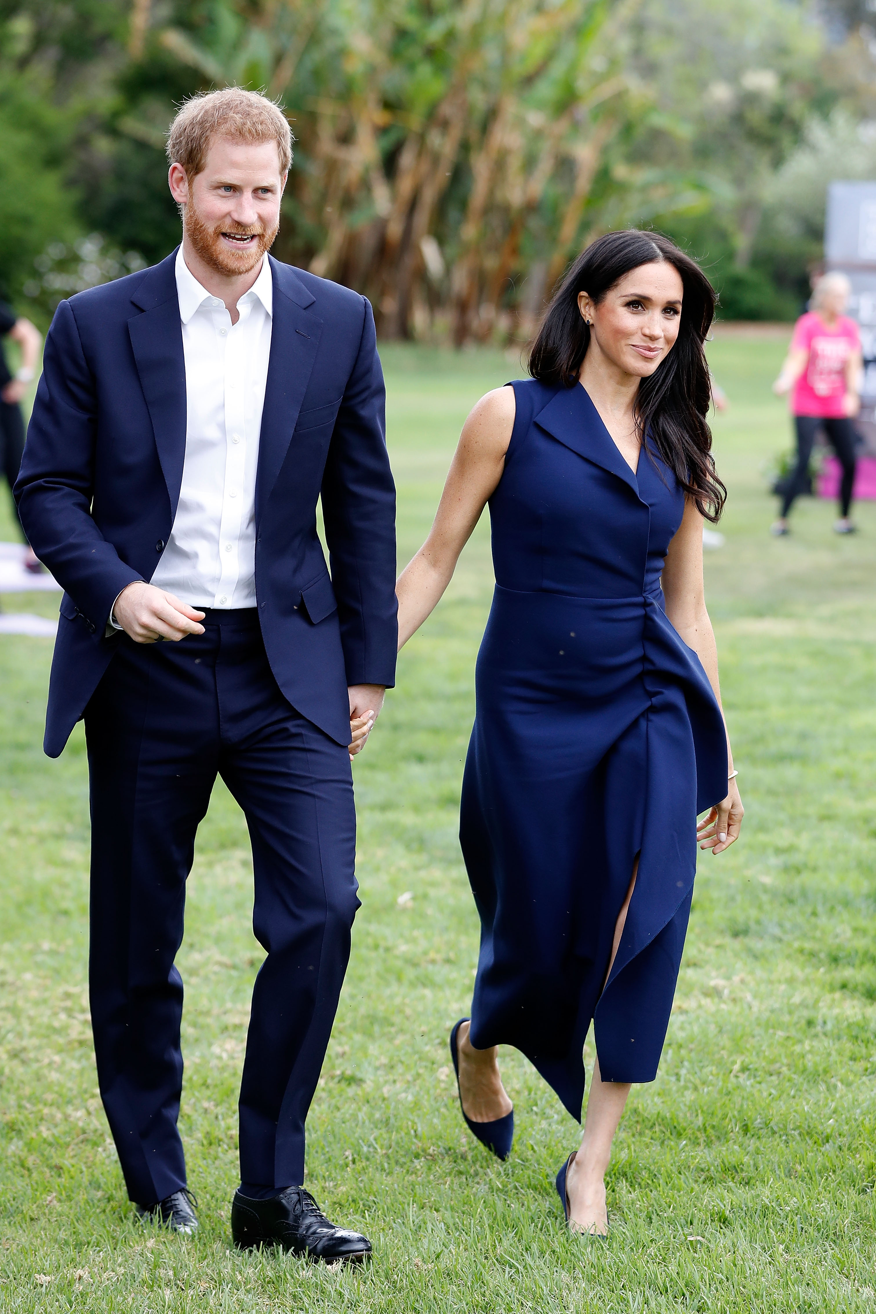 Prince Harry, Duke of Sussex and Meghan, Duchess of Sussex attend a reception at Government House on October 18, 2018, in Melbourne, Australia. The Duke and Duchess of Sussex are on their official 16-day Autumn tour visiting cities in Australia, Fiji, Tonga, and New Zealand. (Getty Images)