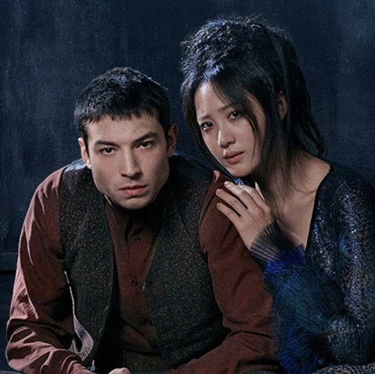 Ezra Miller as Credence Barebone (L) and Claudia Kim as Nagini (R) in Fantastic Beasts: The Crimes of Grindelwald. Source: Twitter.