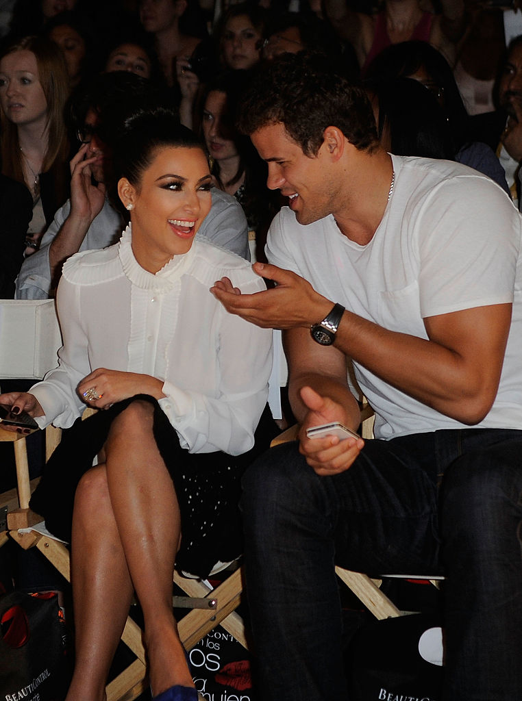 Kim Kardashian and Kris Humphries attend the Abbey Dawn by Avril Lavigne Spring 2012 fashion show during Style360 at the Metropolitan Pavilion on September 12, 2011, in New York City. (Photo by Ilya S. Savenok/Getty Images)