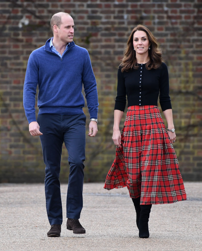 Prince William, Duke of Cambridge, and Catherine, Duchess of Cambridge, arrive to host a Christmas party to deliver a message of support to deployed personnel serving in Cyprus and their families over the festive period, at Kensington Palace on December 04, 2018 (Getty Images)