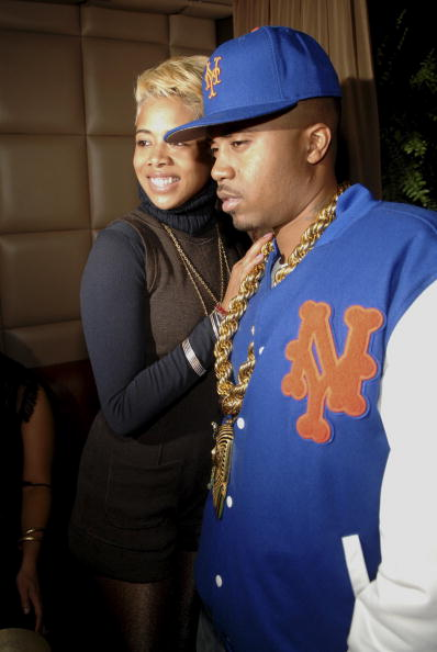 Singer Kelis and her husband, hip-hop artist Nas attend the Trace Magazine ten year celebration at Room Service on December 13, 2006 in New York City. (Photo by Brad Barket /Getty Images)