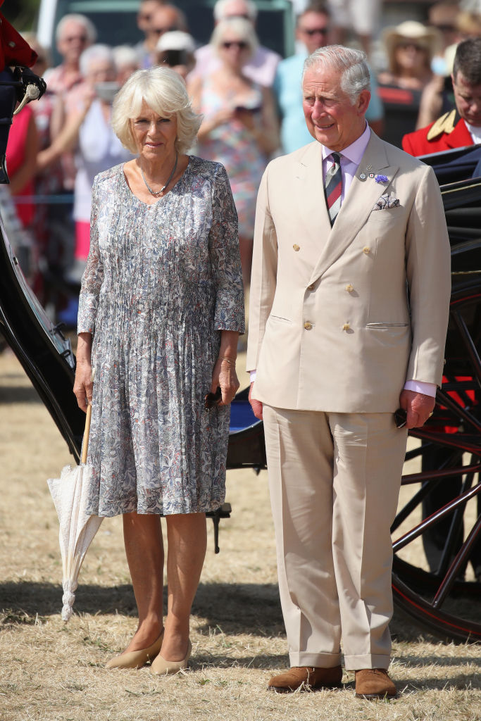 Prince Charles, Prince of Wales and Camilla, Duchess of Cornwall arrive at the Sandringham Flower Show 2018 at Sandringham House on July 25, 2018 in King's Lynn, England. (Photo by Chris Jackson/Getty Images)