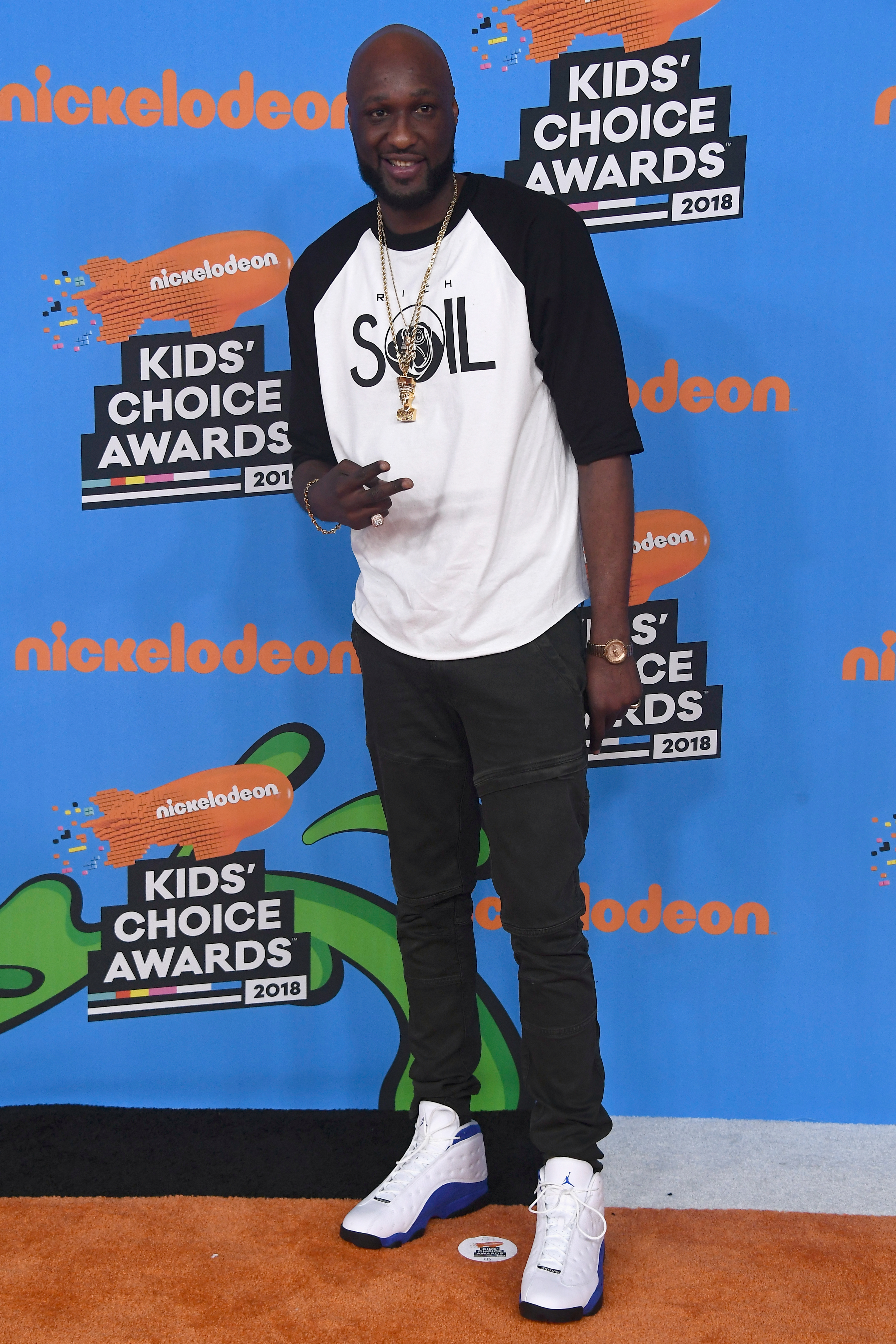 Lamar Odom attends Nickelodeon's 2018 Kids' Choice Awards at The Forum on March 24, 2018, in Inglewood, California. (Getty Images)