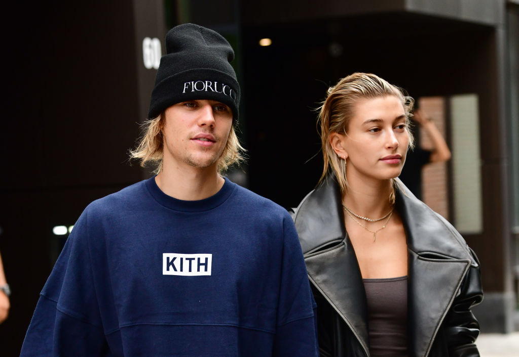 Justin Bieber and Hailey Baldwin seen on the streets of Brooklyn on September 14, 2018 in New York City. (Photo by James Devaney/GC Images)