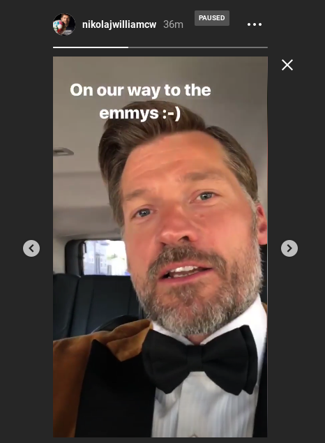Costa/Jamie teases fans about his appearance at the Emmys. (Instagram Story)