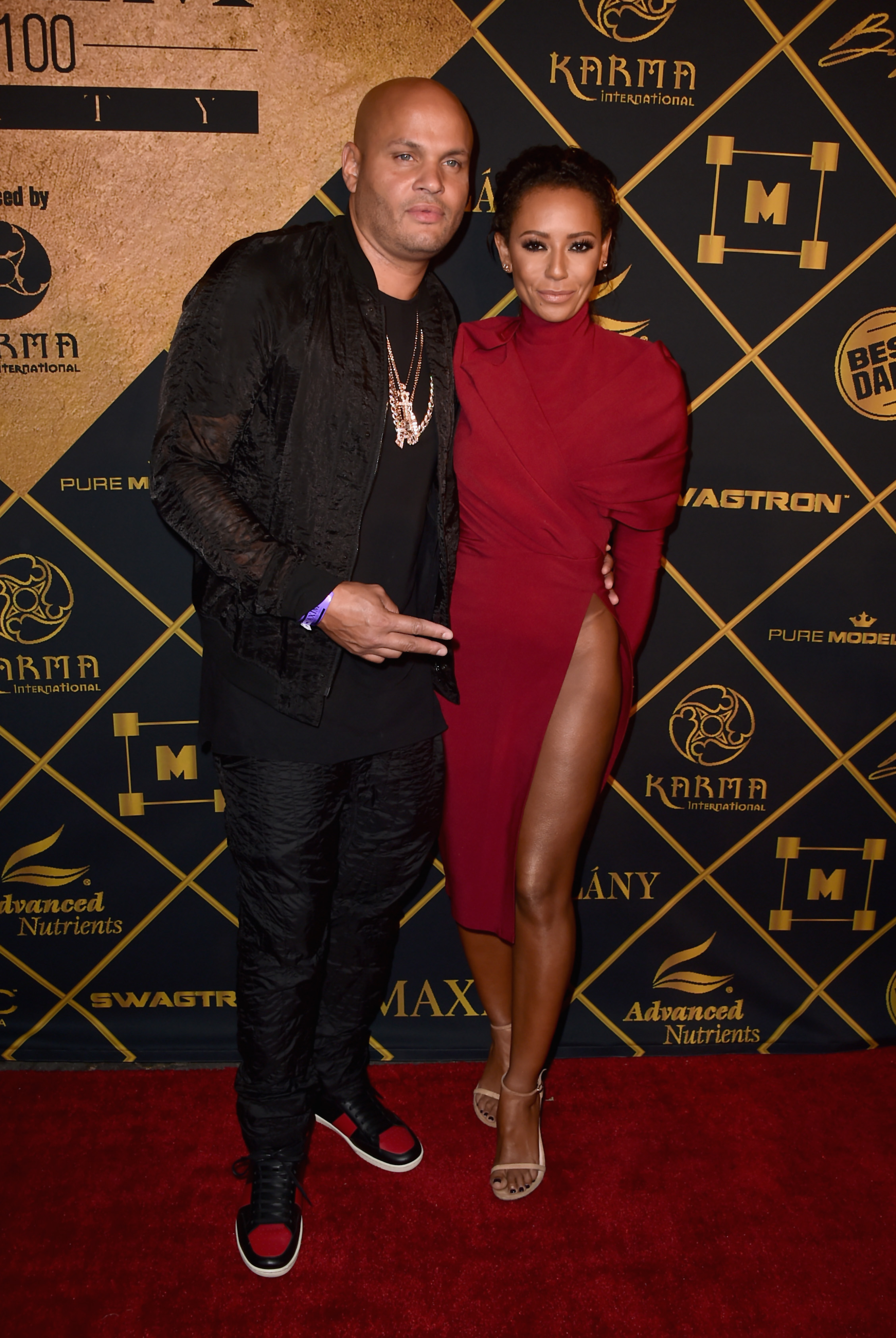 Stephen Belafonte and Mel B (Source: Getty Images)