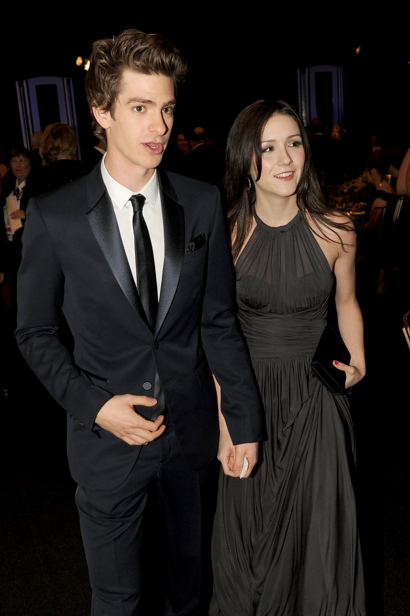 Andrew Garfield (L) and Shannon Woodward attend the cocktail reception during the 17th Annual Screen Actors Guild Awards held at The Shrine Auditorium on January 30, 2011 in Los Angeles, California.