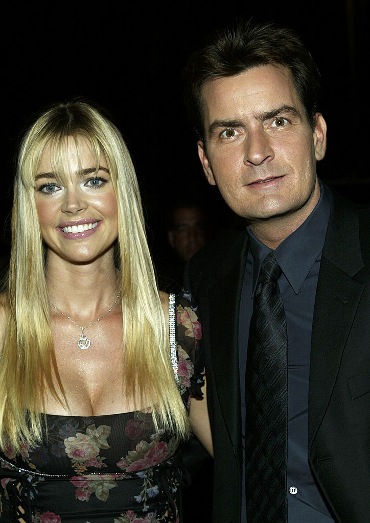 Actors Denise Richards and Charlie Sheen attend the film premiere of 'Scary Movie 3' at the AMC Theatres Avco Cinema on October 20, 2003 in Westwood, California (Photo by Frederick M. Brown/Getty Images)