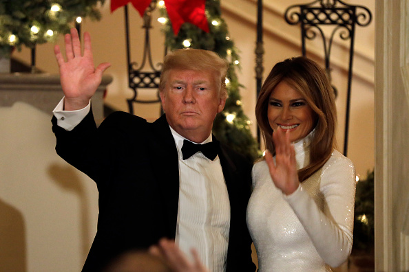President Donald Trump and First lady Melania Trump at the Congressional Ball (Source: Getty Images)