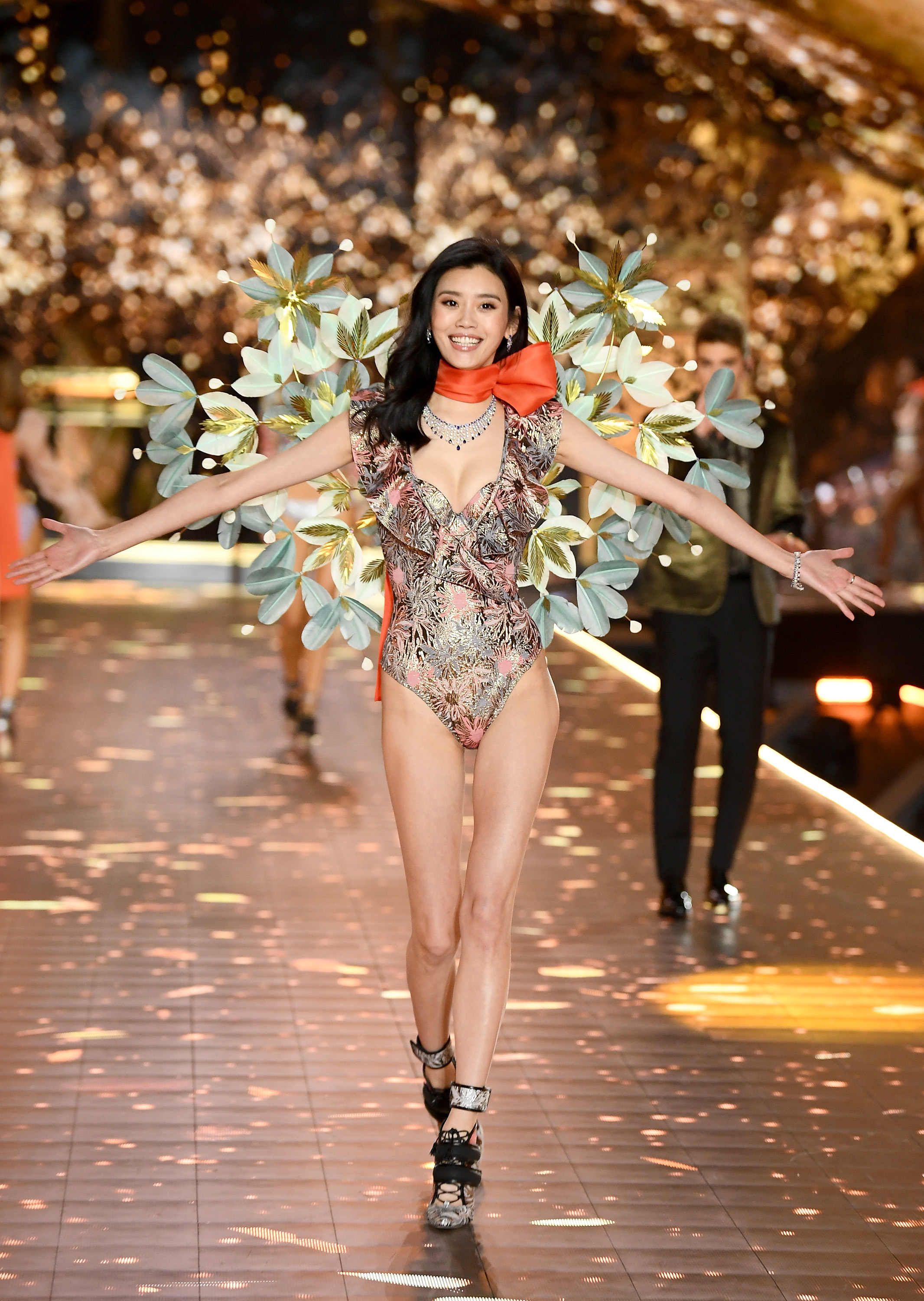 Ming Xi walks the runway during the 2018 Victoria's Secret Fashion Show at Pier 94 on November 8, 2018, in New York City. (Getty Images)