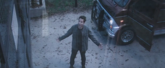 Scott Lang at the gates of Avengers headquarters (Youtube screenshot)