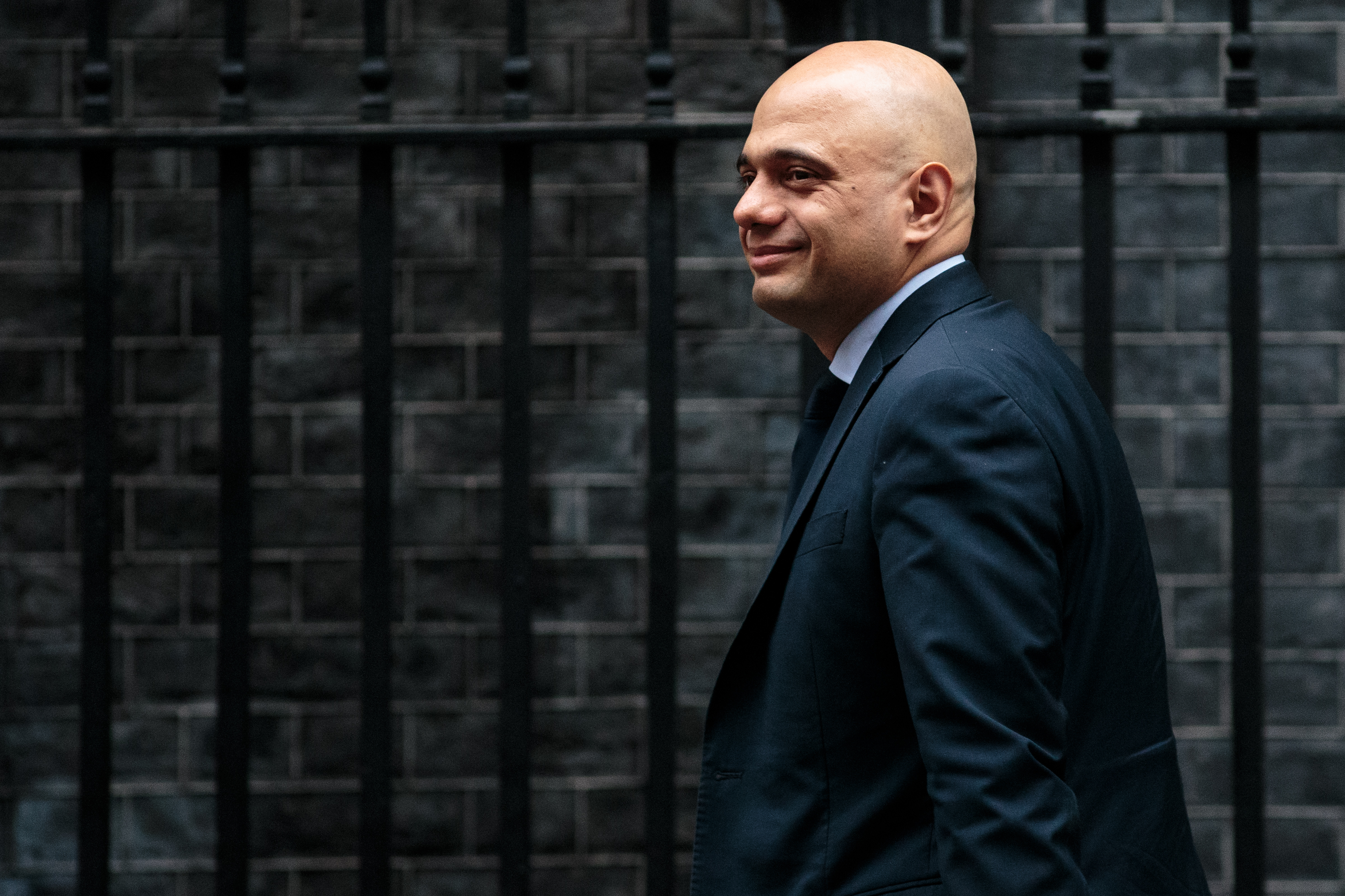 Home Secretary Sajid Javid arrives for the weekly Cabinet meeting at Number 10 Downing Street on February 5, 2019, in London, England. (Getty)