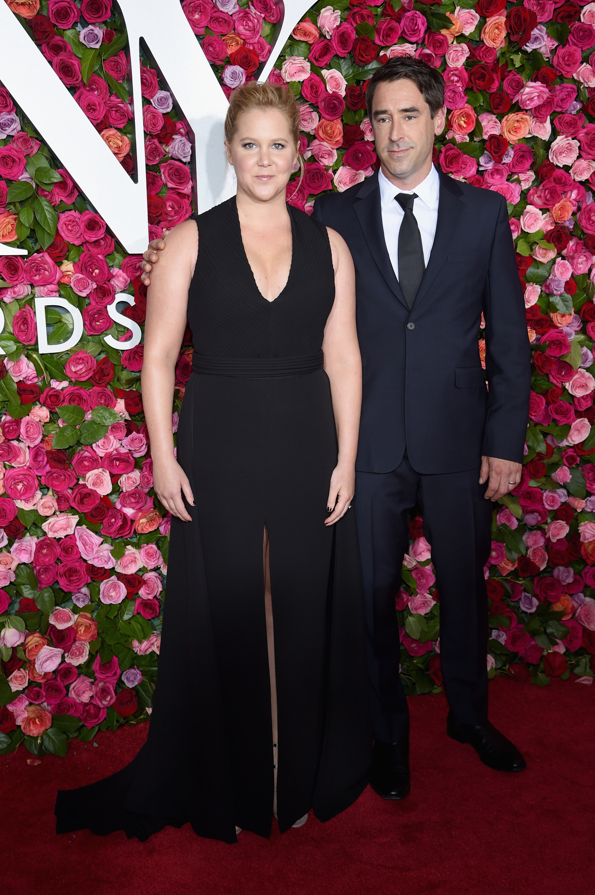 Amy Schumer (L) and Chris Fischer attend the 72nd Annual Tony Awards at Radio City Music Hall on June 10, 2018 in New York City. (Photo by Dimitrios Kambouris/Getty Images for Tony Awards Productions)