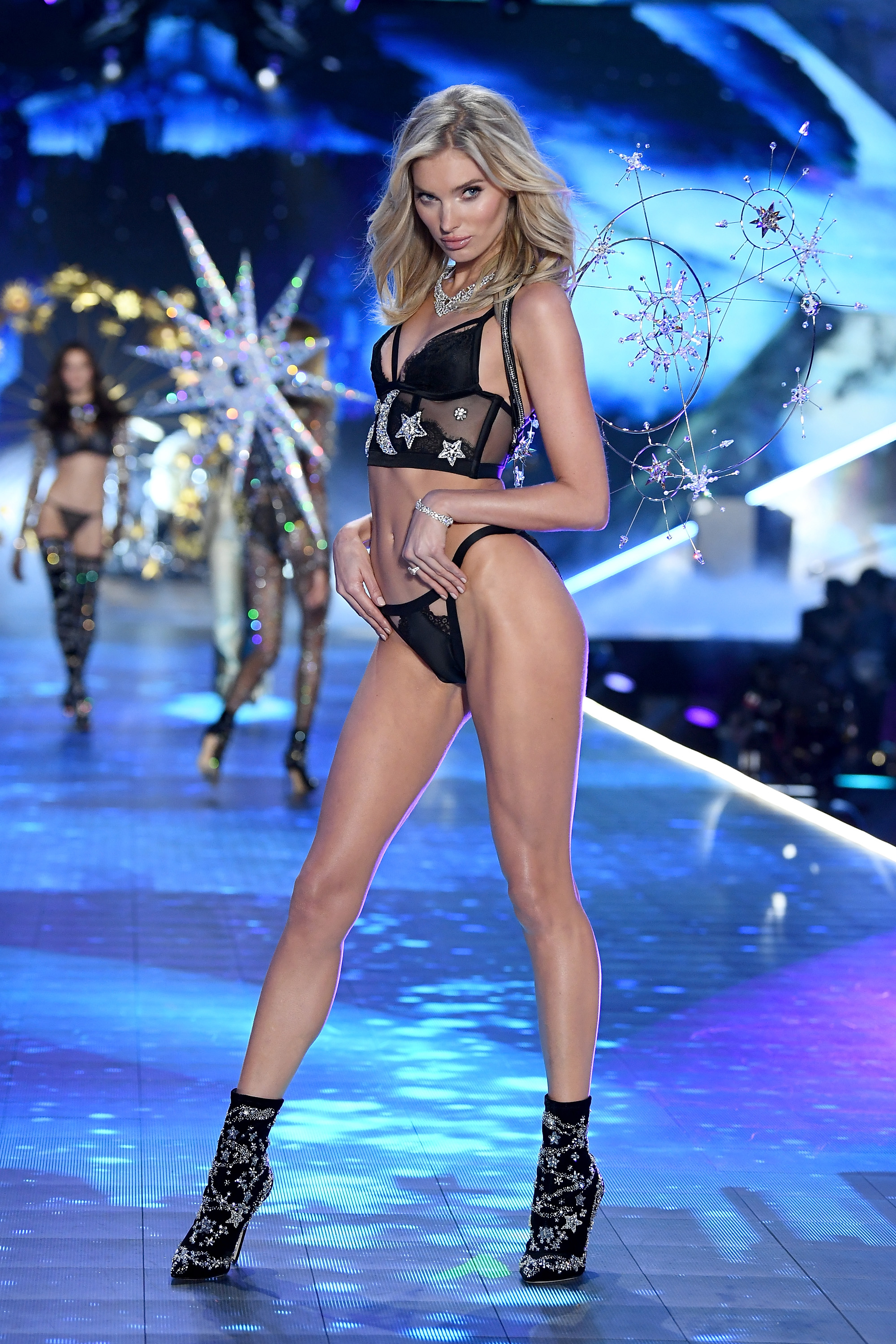 Elsa Hosk walks the runway during the 2018 Victoria's Secret Fashion Show at Pier 94 on November 8, 2018, in New York City. (Getty Images)