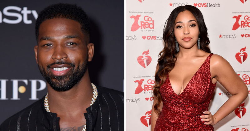 Tristan Thompson and Jordyn Woods (Source: Getty Images)