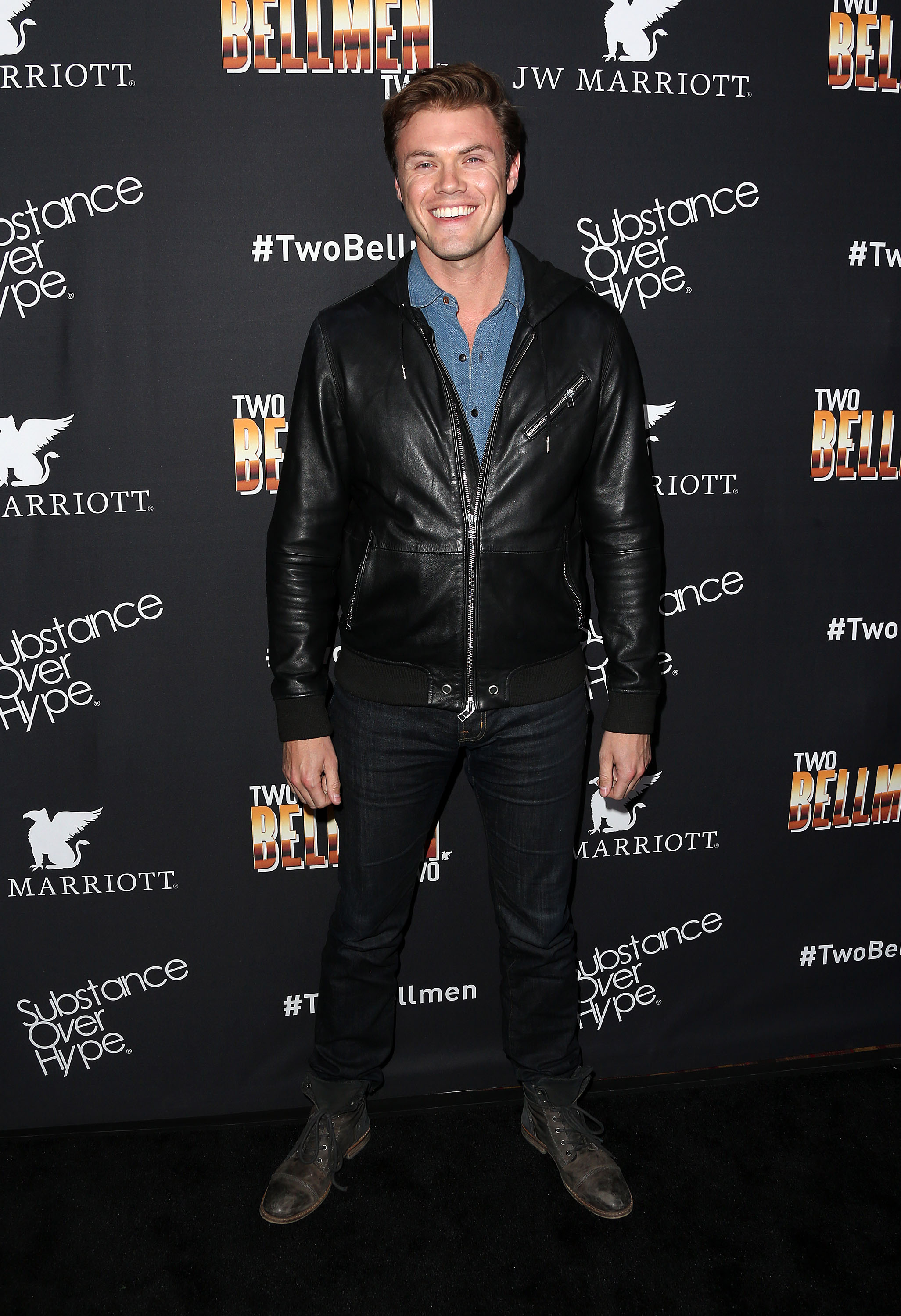 Actor Blake Cooper Griffin attends the Premiere of Substance Over Hype's 'Two Bellmen Two' at the JW Marriott Los Angeles at L.A. LIVE on February 4, 2016 in Los Angeles, California.