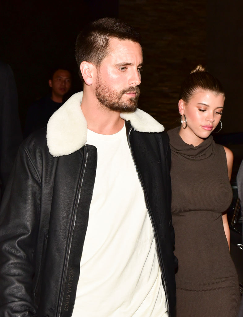 Scott Disick and Sofia Richie at the VIP Exhibit Preview for 'Street Dreams' on November 16, 2018, in West Hollywood, California. (Getty Images)