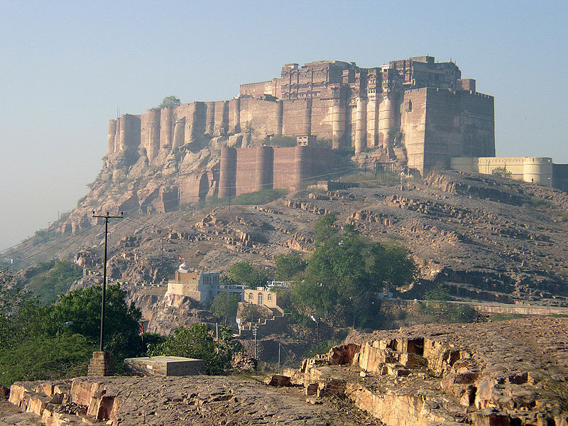 "The wedding ""sangeet"" was initially planned to take place in Mehrangarh Fort, 6 km from the main wedding venue"
