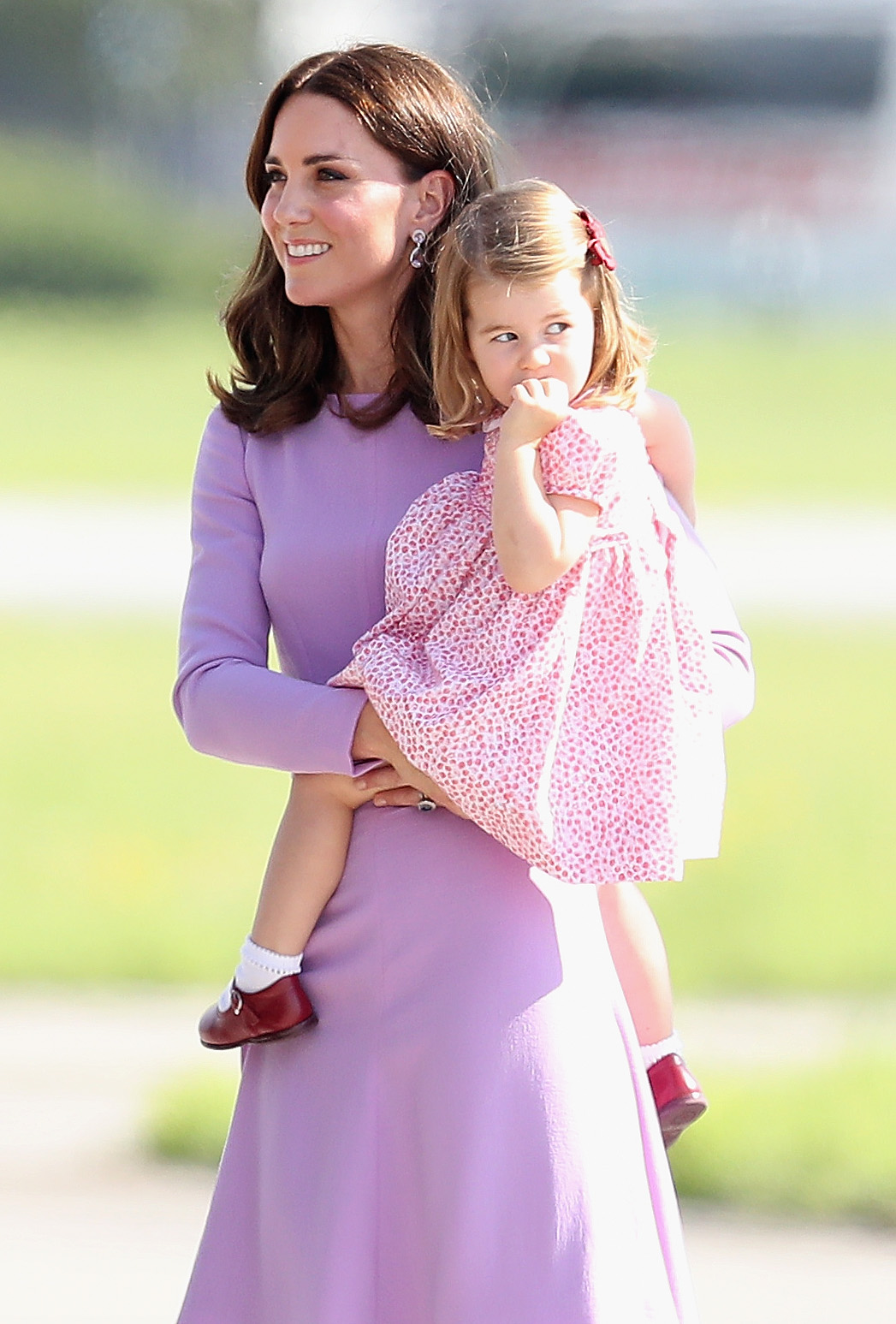 Kate Middleton with daughter Charlotte in Hamburg, Germany on July 21, 2017 (Getty Images)