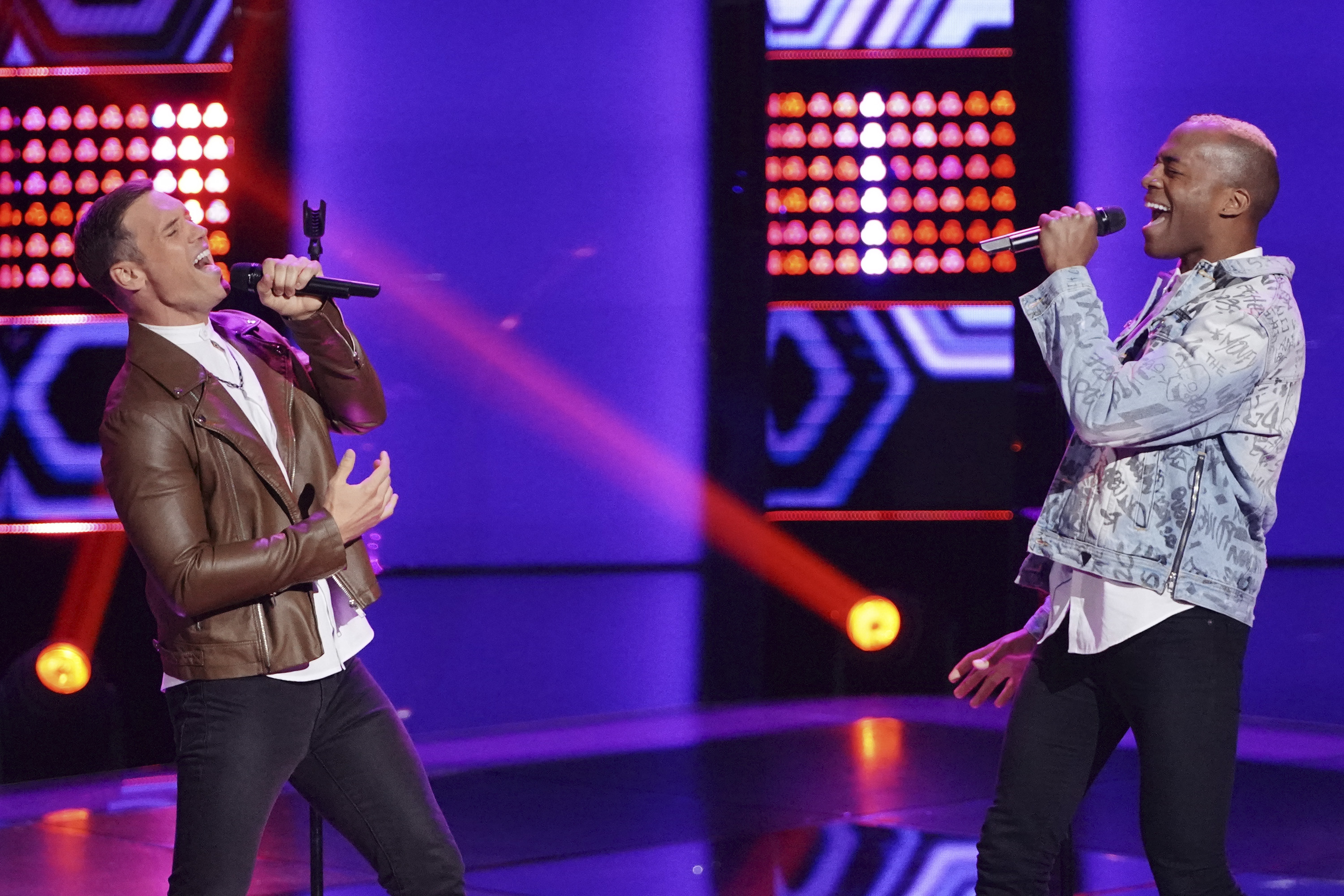 "THE VOICE -- ""Blind Auditions"" Episode 1505 -- Pictured: OneUp -- (Photo by: Tyler Golden/NBC)"