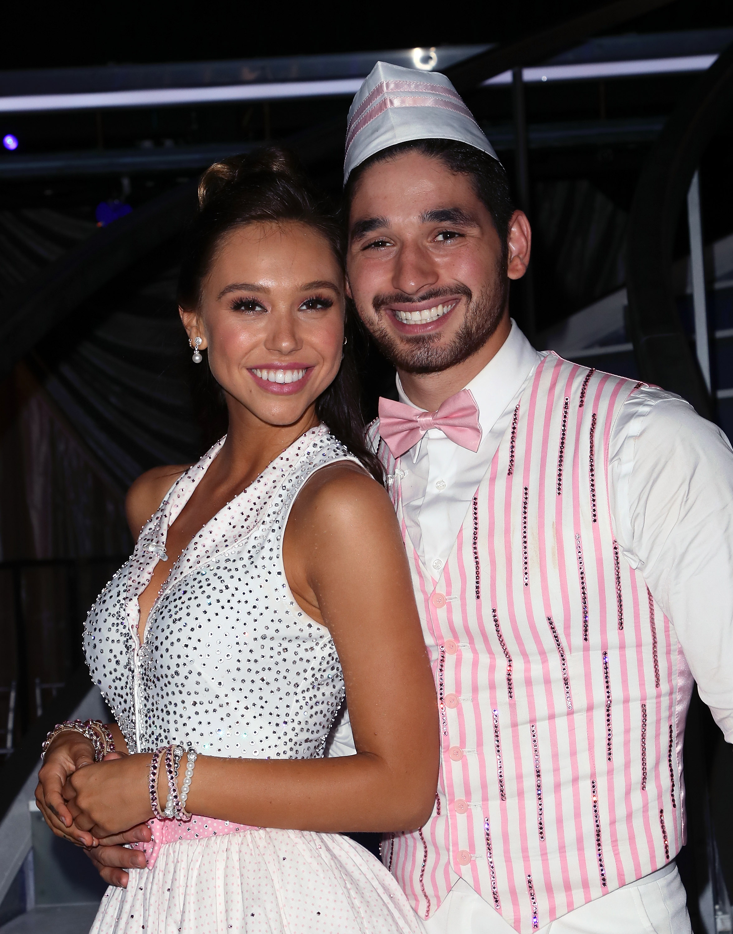Alexis Ren (L) and Alan Bersten pose at 'Dancing with the Stars' Season 27 at CBS Televison City on September 24, 2018 in Los Angeles, California.