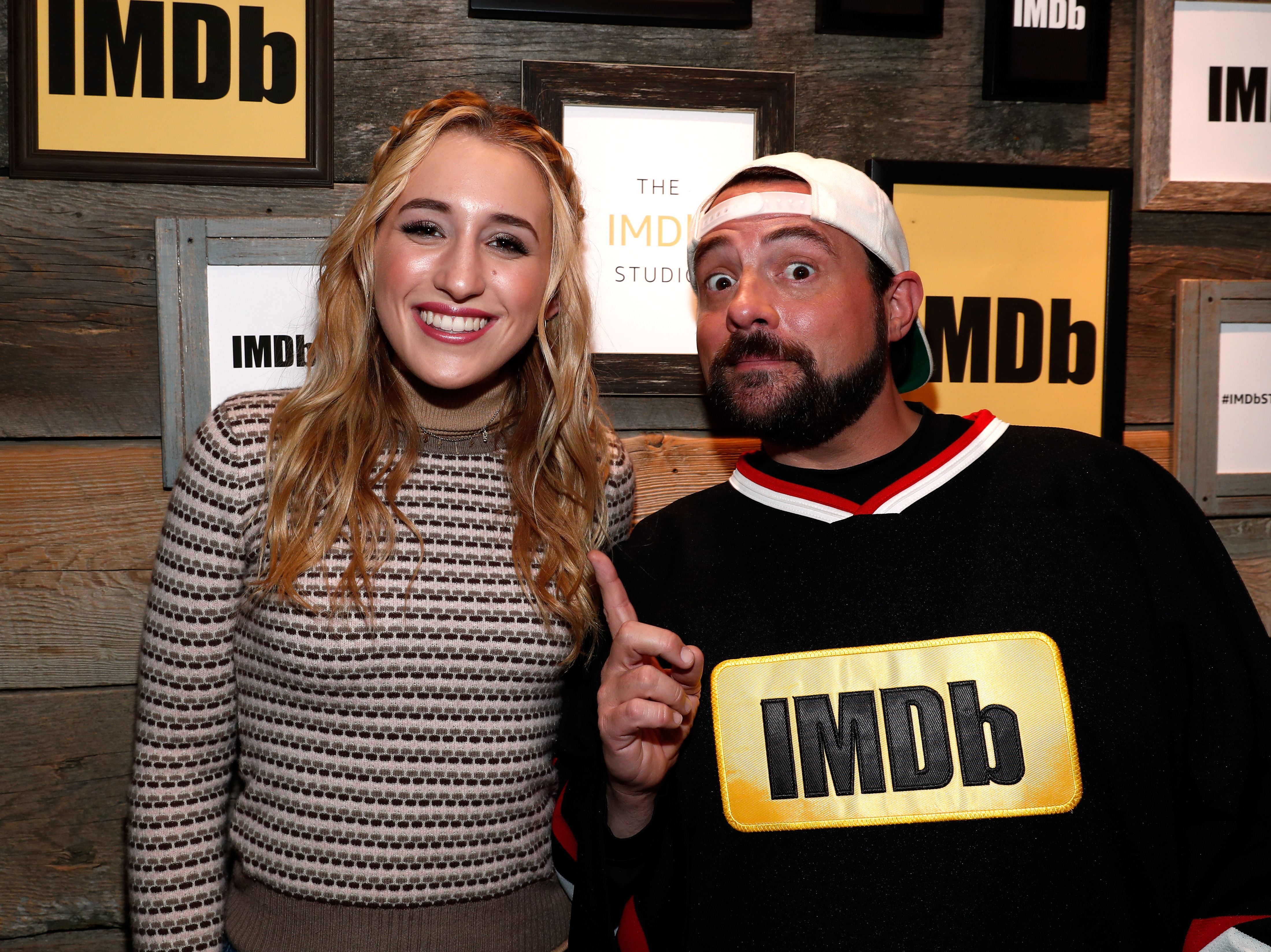 Actress Harley Quinn Smith and Kevin Smith attend The IMDb STARmeter Award Ceremony & The Amazon Video Direct Inaugural Filmmaker Awards during the 2017 Sundance Film Festival on January 23, 2017 in Park City, Utah.