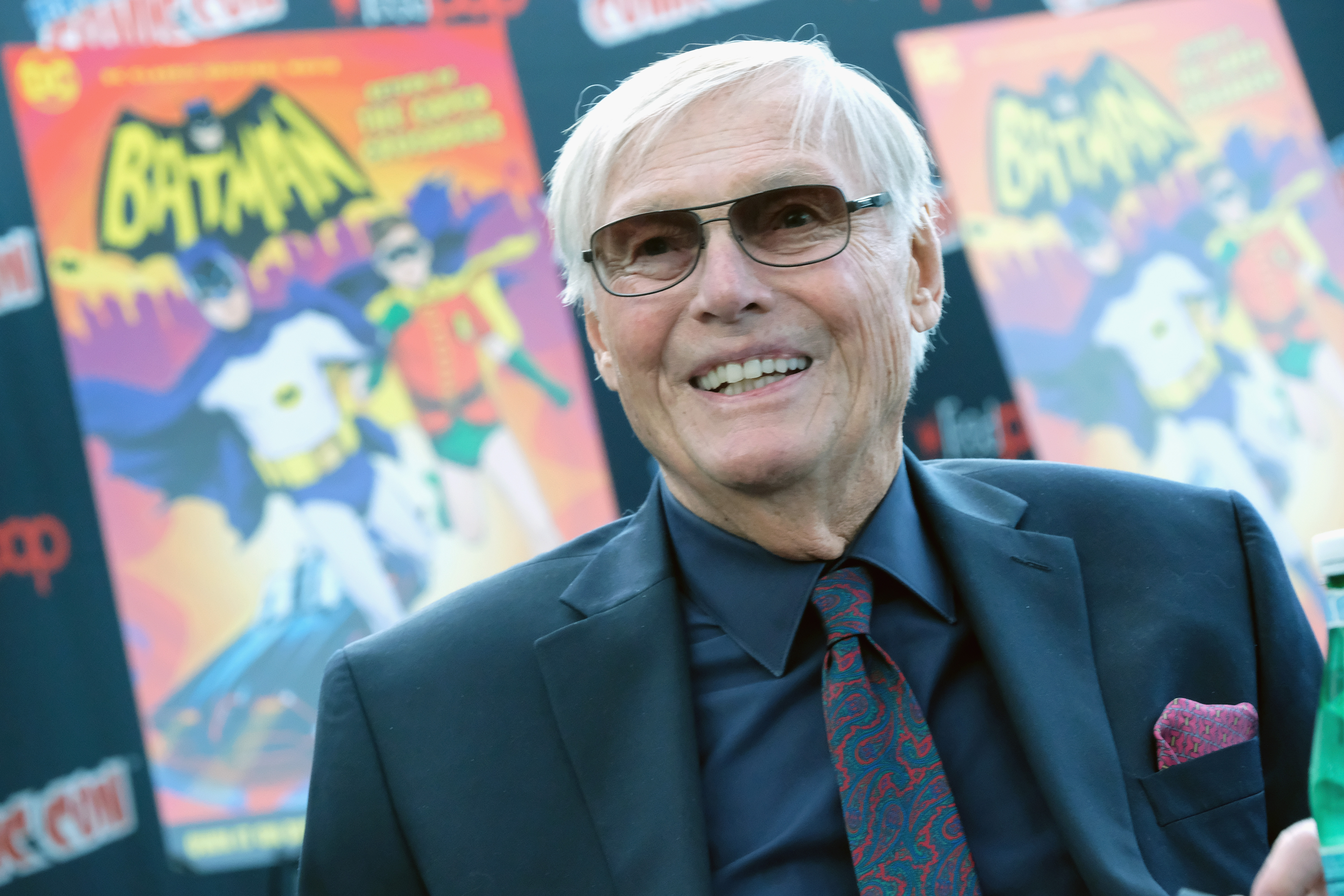 Actor Adam West attends the Batman: Return of the Caped Crusaders Press Room at New York Comic-Con - Day 1 at Jacob Javits Center on October 6, 2016 in New York City. (Photo by Mike Coppola/Getty Images)