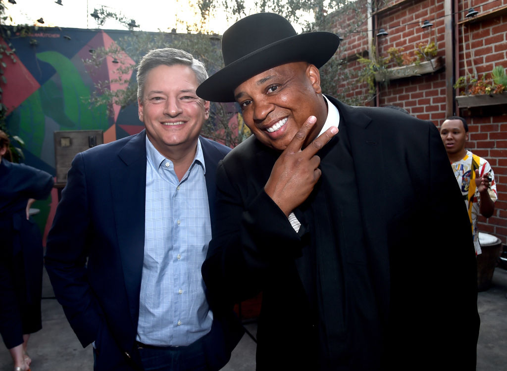 Ted Sarandos and Rev Run attend the after party for a screening of Netflix's 'All About The Washingtons' on August 8, 2018 in Hollywood, California. (Photo by Alberto E. Rodriguez/Getty Images)