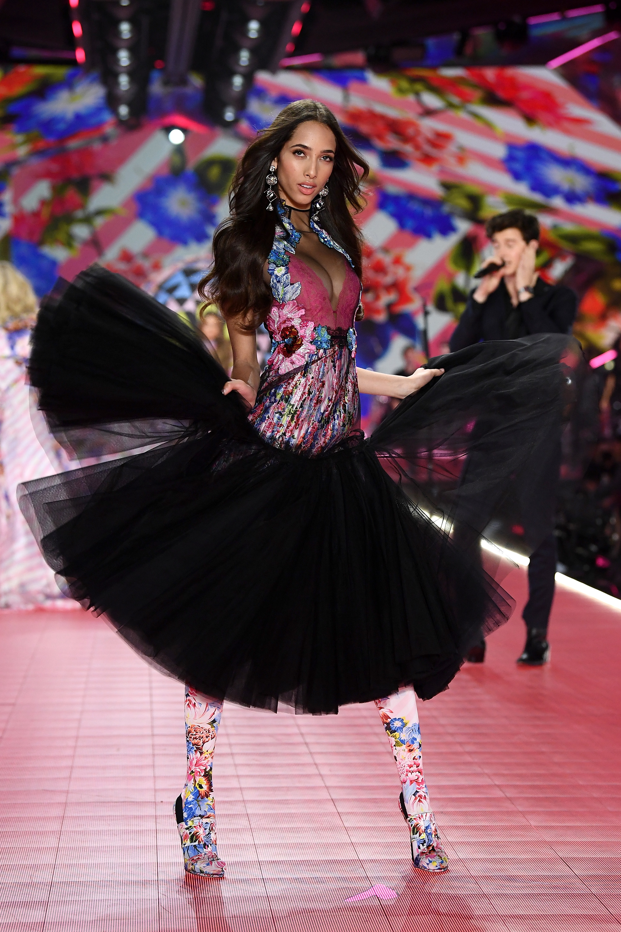 Yasmin Wijnaldum walks the runway during the 2018 Victoria's Secret Fashion Show at Pier 94 on November 8, 2018, in New York City. (Getty Images)