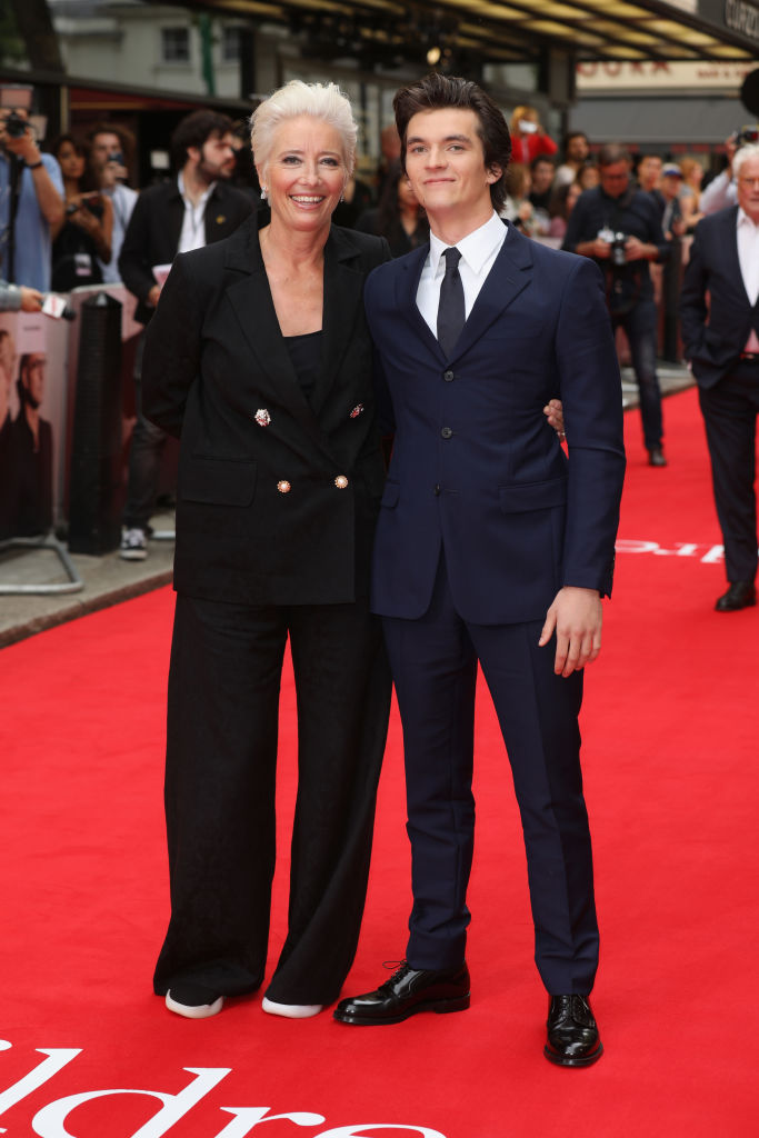 Emma Thompson and Fionn Whitehead attend 'The Children Act' UK Premiere at The Curzon Mayfair on August 16, 2018 in London, England. (Photo by Tim P. Whitby/Getty Images)