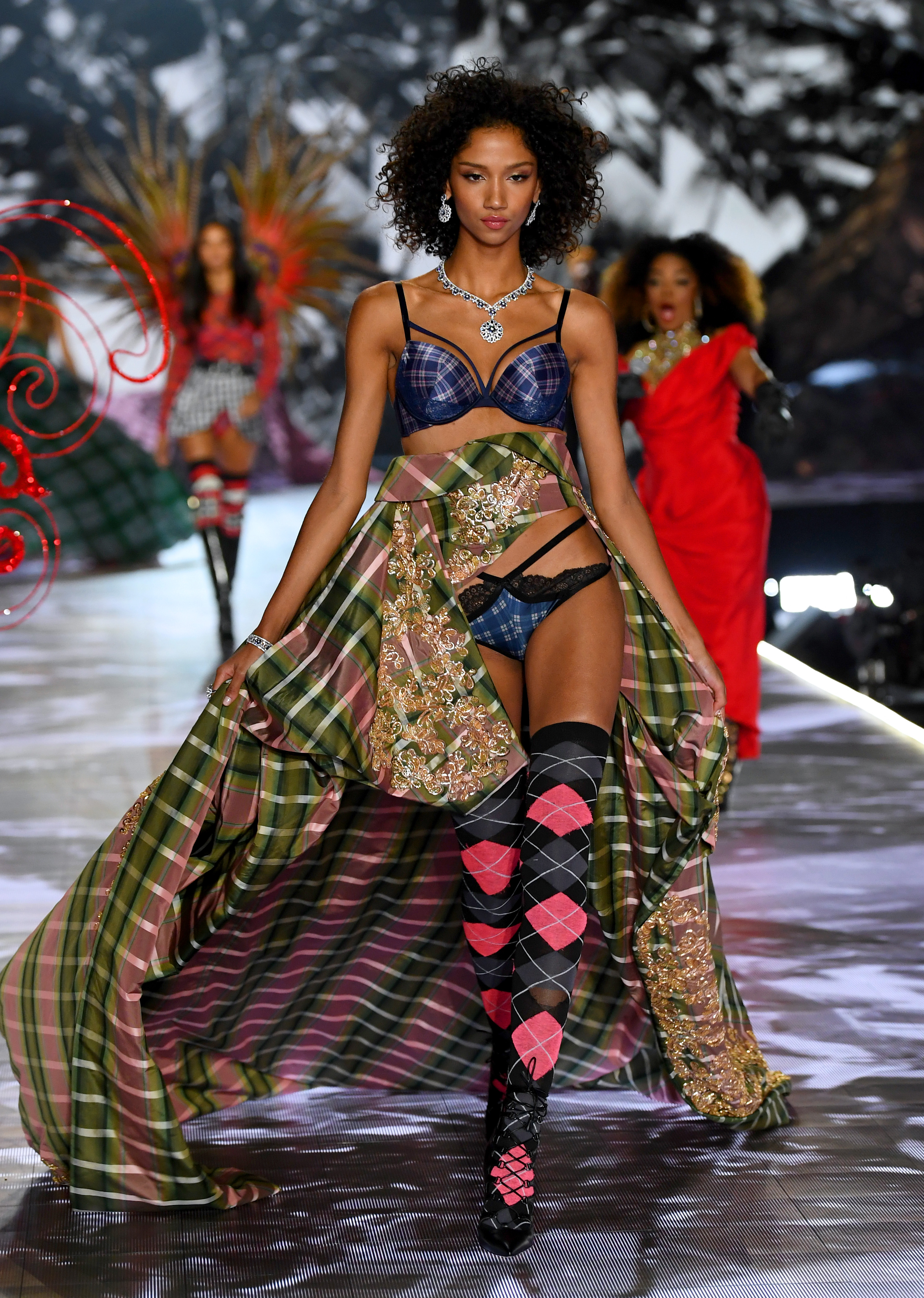Aiden Curtiss walks the runway during the 2018 Victoria's Secret Fashion Show at Pier 94 on November 8, 2018, in New York City. (Getty Images)
