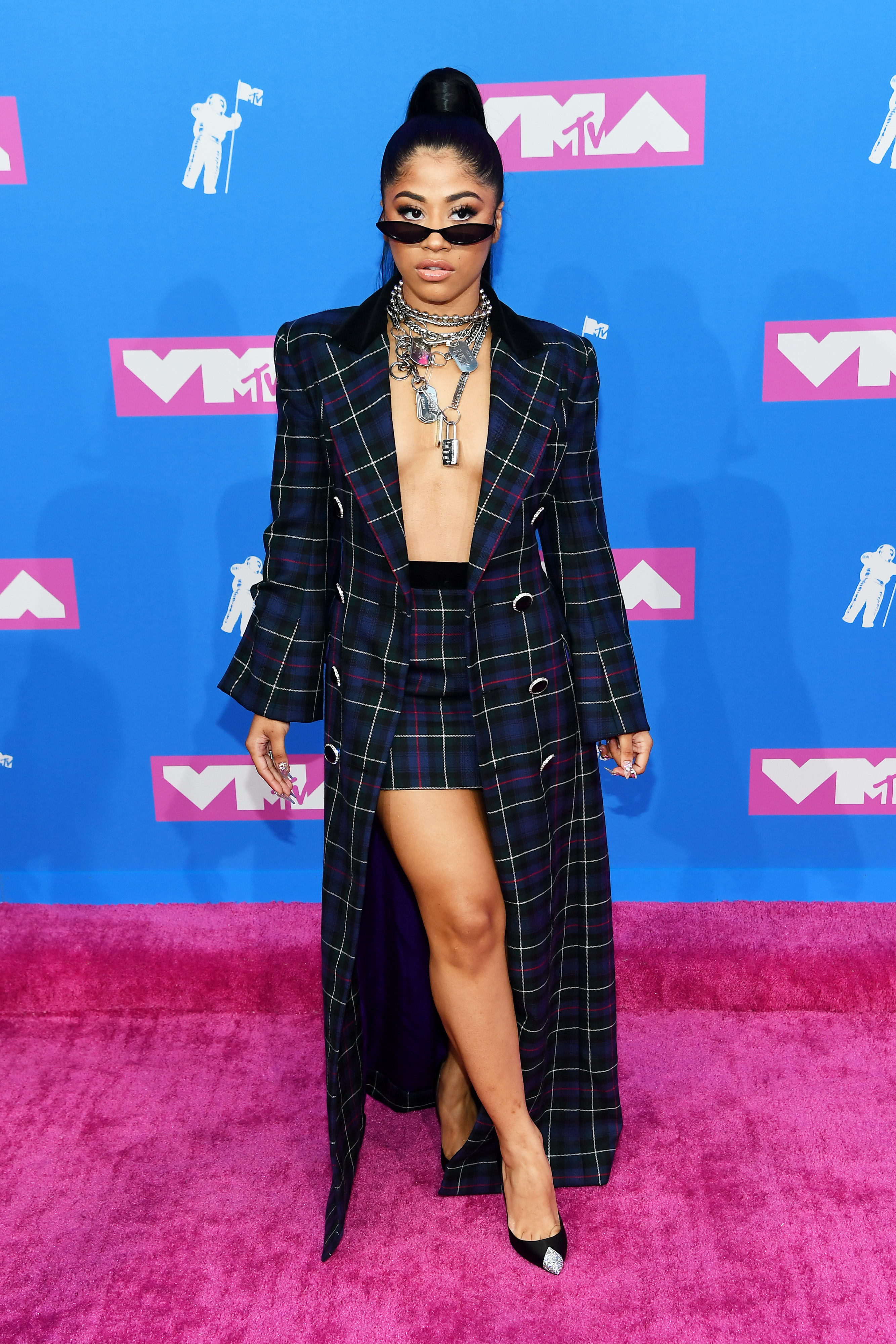 Hennessy Carolina attends the 2018 MTV Video Music Awards at Radio City Music Hall on August 20, 2018 in New York City.