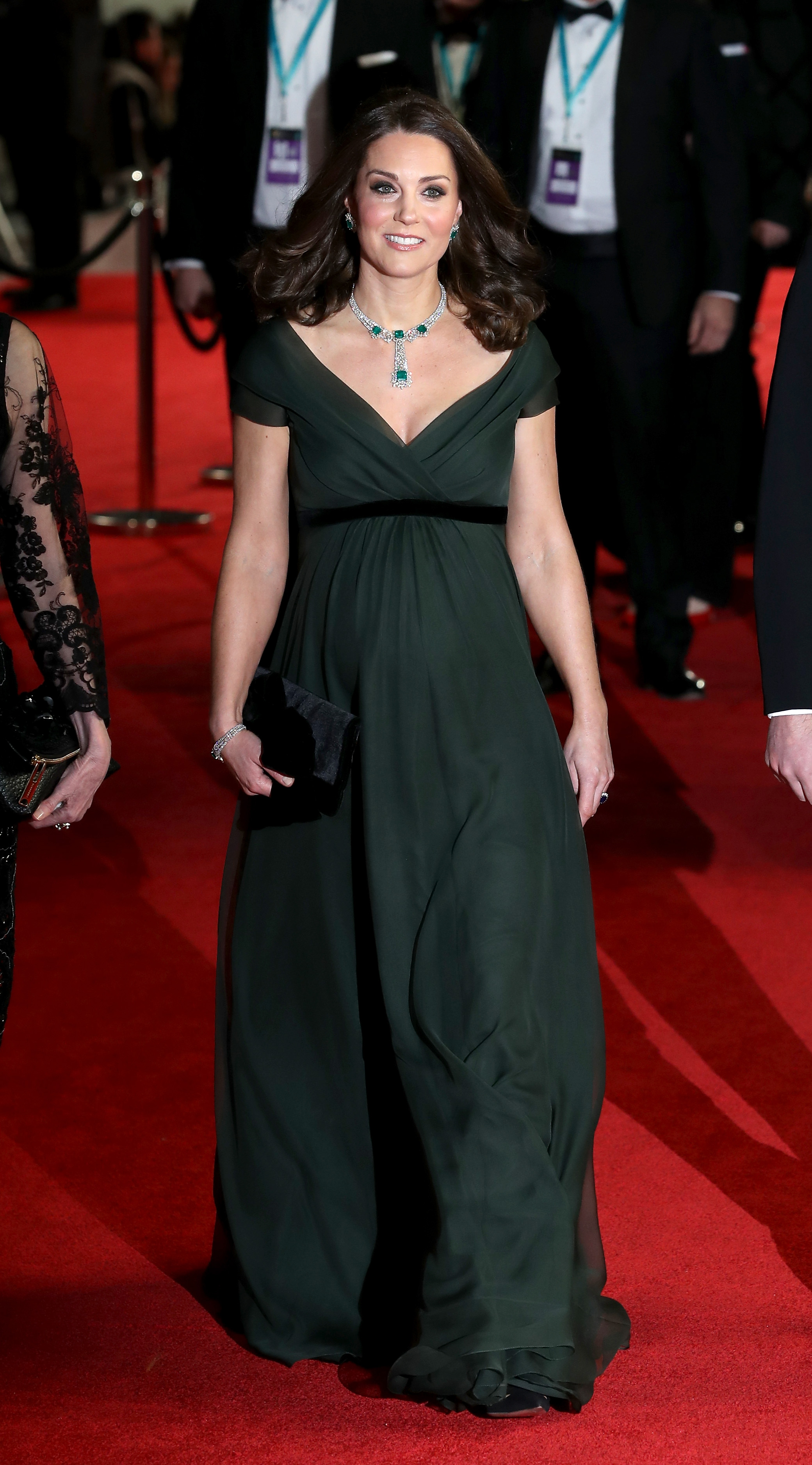 Catherine, Duchess of Cambridge, attends the EE British Academy Film Awards (BAFTA) held at Royal Albert Hall on February 18, 2018, in London, England. (Getty Images)