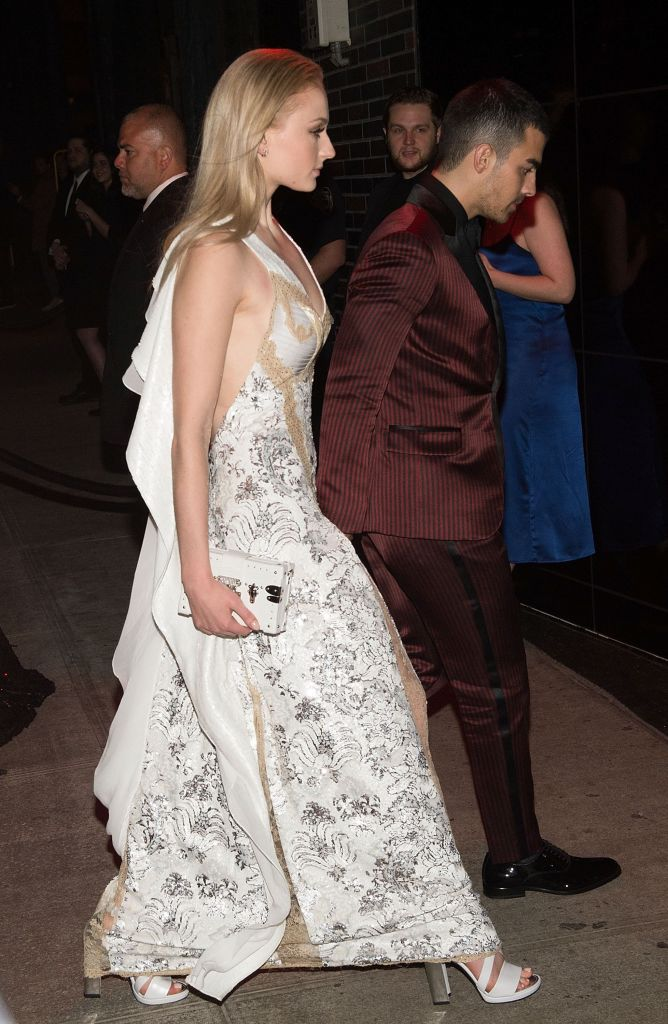 Sophie Turner and Joe Jonas attend the Marc Jacobs afterparty of the Rei Kawakubo/Comme des Garcons: Art Of The In-Between Costume Institute Gala at the Boom Boom Room on May 1, 2017 in New York City. (Photo by Daniel Zuchnik/Getty Images)