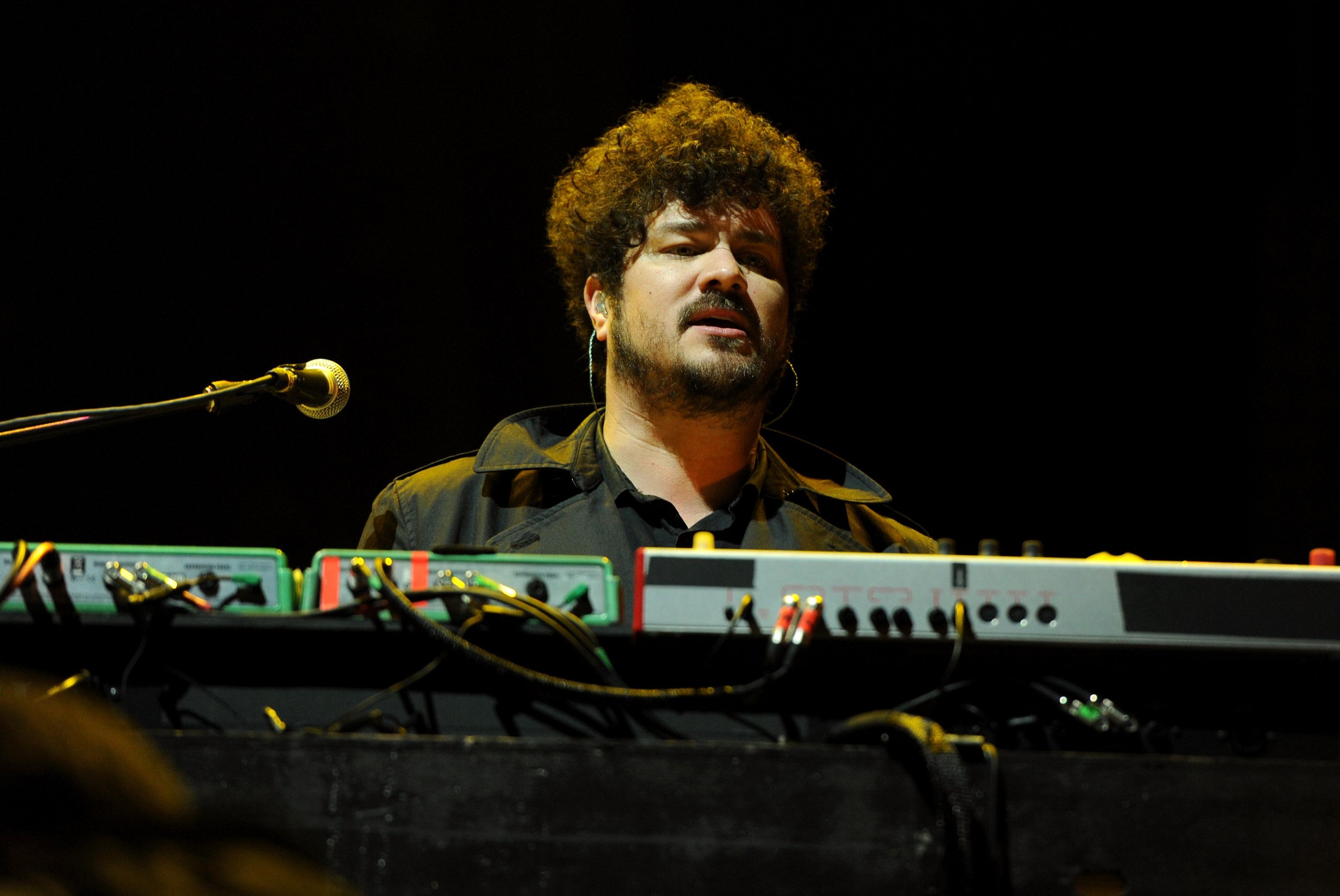 Musician Richard Swift of The Shins performs onstage during day 2 of the 2012 Coachella Valley Music & Arts Festival at the Empire Polo Field on April 14, 2012 in Indio, California.