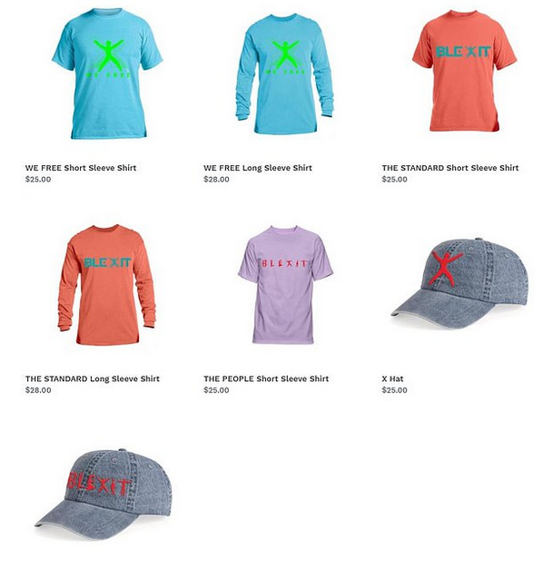 Kanye West's 'Blexit' line of clothing (Source: Blexit.com)