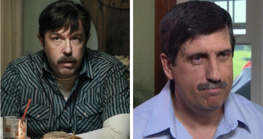 Eric Lange (L) plays the real life Lyle Mitchell (R) on Showtime's Escape at Dannemora.